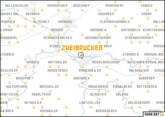 Zweibrücken (Germany) map   nona.net