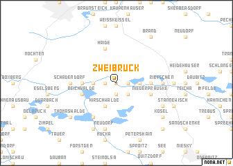 map of Zweibrück