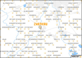 map of Zwenkau