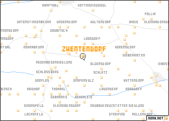 map of Zwentendorf