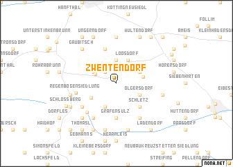 map of Zwentendorf