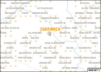 map of Zweribach