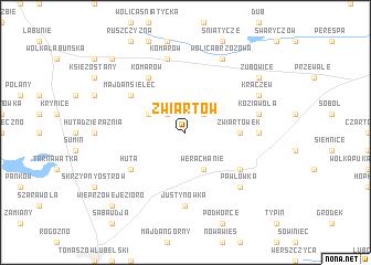 map of Zwiartów