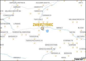 map of Zwierzyniec