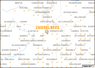 map of Zwieselberg