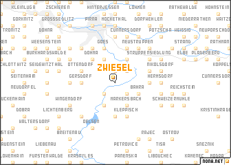 map of Zwiesel