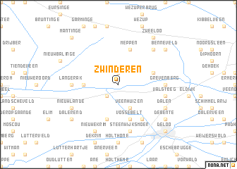 map of Zwinderen