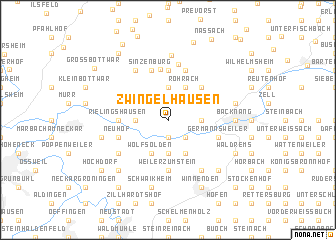 map of Zwingelhausen