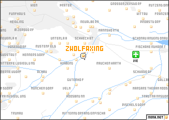 map of Zwölfaxing