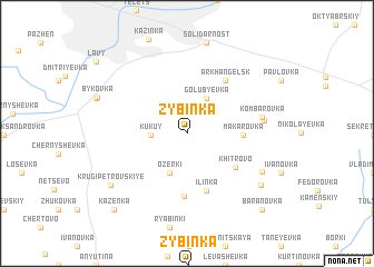 map of Zybinka