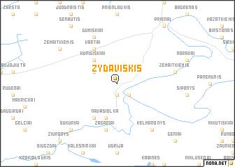 map of Žydaviškis