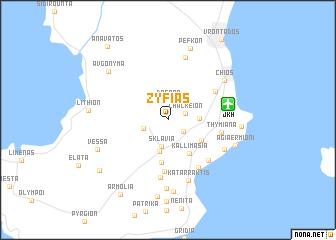 map of Zyfiás