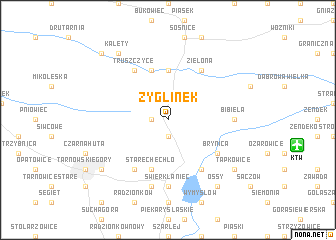 map of Zyglinek
