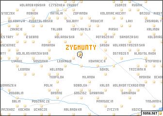 map of Zygmunty