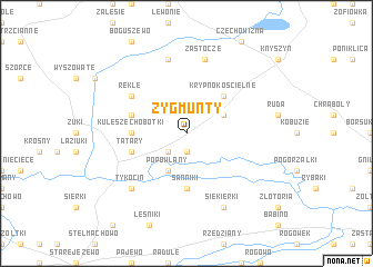 map of Zygmunty