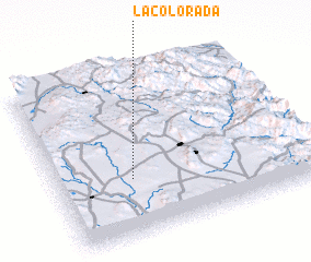 3d view of La Colorada