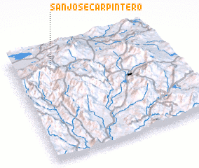 3d view of San José Carpintero
