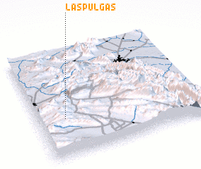 3d view of Las Pulgas
