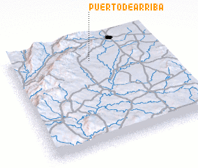 3d view of Puerto de Arriba