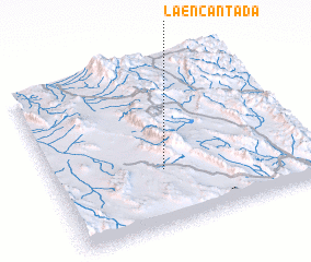 3d view of La Encantada