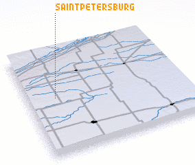 3d view of Saint Petersburg