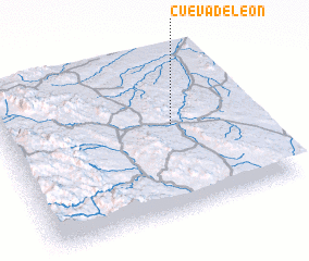 3d view of Cueva de León