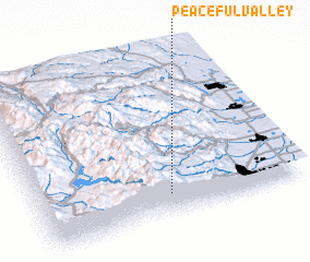3d view of Peaceful Valley