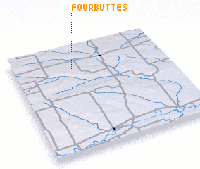3d view of Four Buttes