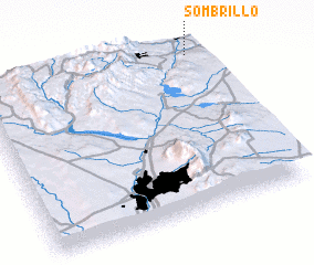 3d view of Sombrillo