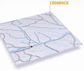 3d view of Crow Rock