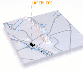 3d view of Las Cruces