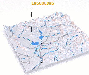 3d view of Las Cuevas