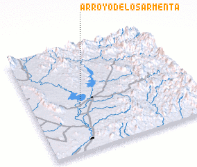 3d view of Arroyo de los Armenta