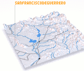 3d view of San Francisco de Guerrero