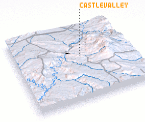 3d view of Castle Valley