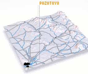 3d view of Pozo Toyo