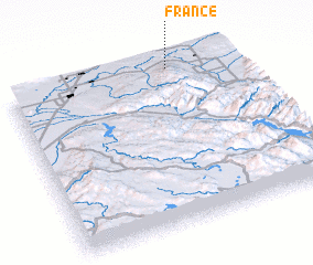 3d view of France
