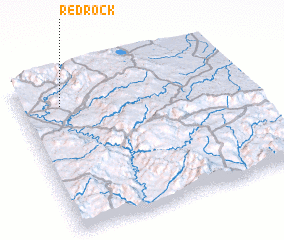 3d view of Red Rock