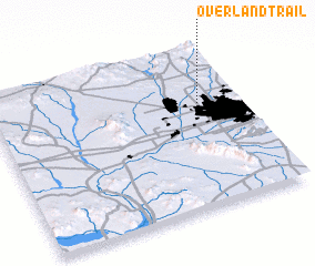 3d view of Overland Trail