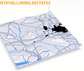 3d view of Country Hills Mobile Estates