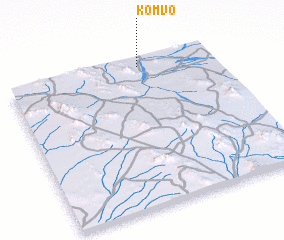 3d view of Kom Vo