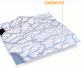 3d view of Cañoncito