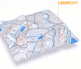 3d view of Canon City