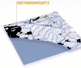 3d view of Santa Ana Heights