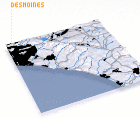 3d view of Des Moines