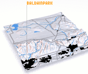 3d view of Baldwin Park