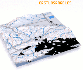 3d view of East Los Angeles