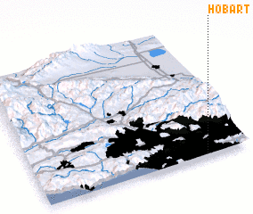 3d view of Hobart
