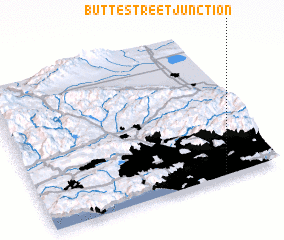 3d view of Butte Street Junction