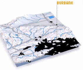 3d view of Burbank